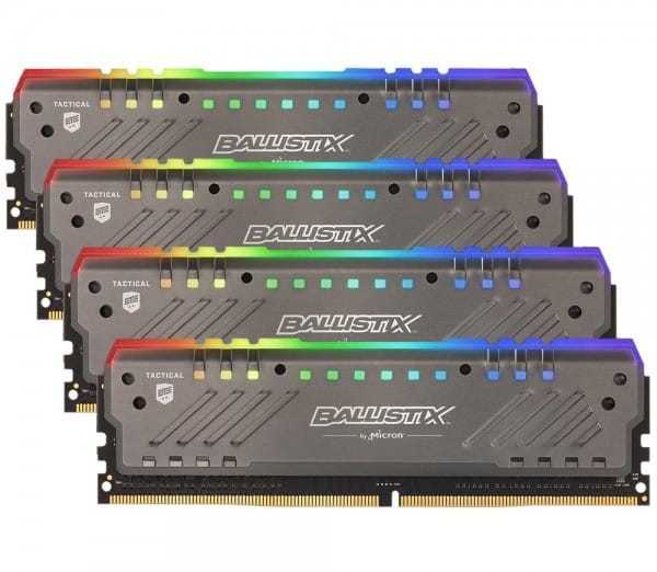 64GB Crucial Ballistix Tactical Tracer RGB (4x 16GB) CL16 Gaming Speicher Kit