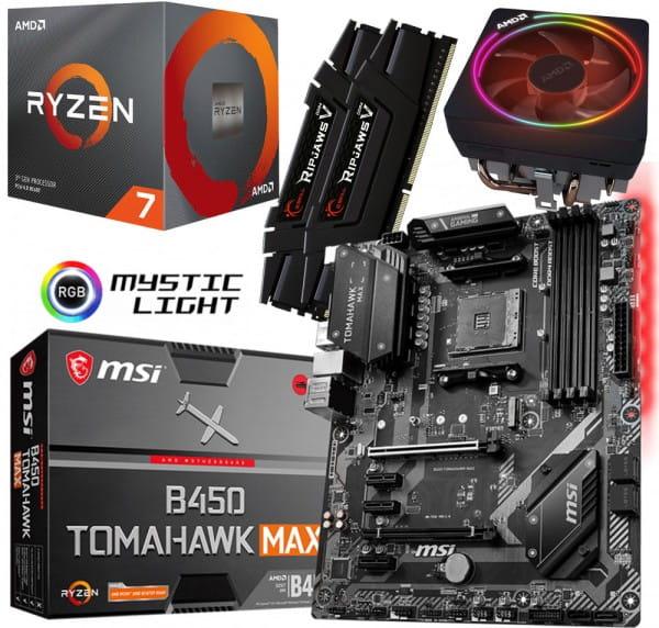 PC Bundle Kit - AMD Ryzen 7 3700X - MB MSI B450 TOMAHAWK MAX II - 32GB DDR4-3200