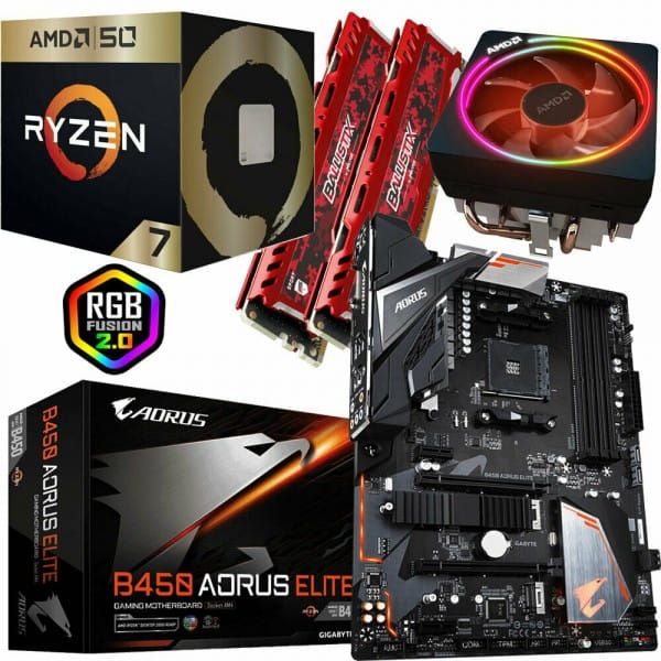 PC Bundle Kit - AMD Ryzen7 2700X - Gigabyte GA-B450 AORUS ELITE - 16GB DDR4-3200