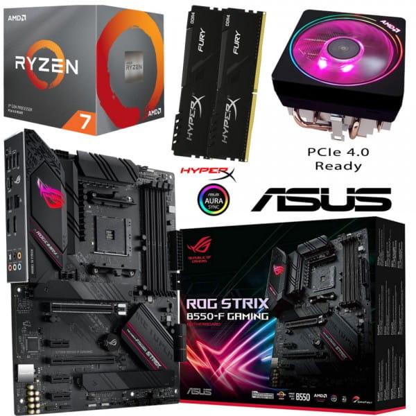 PC Bundle • AMD Ryzen 7 3800X + ASUS ROG Strix B550-F Gaming + 16GB HyperX DDR4-3200