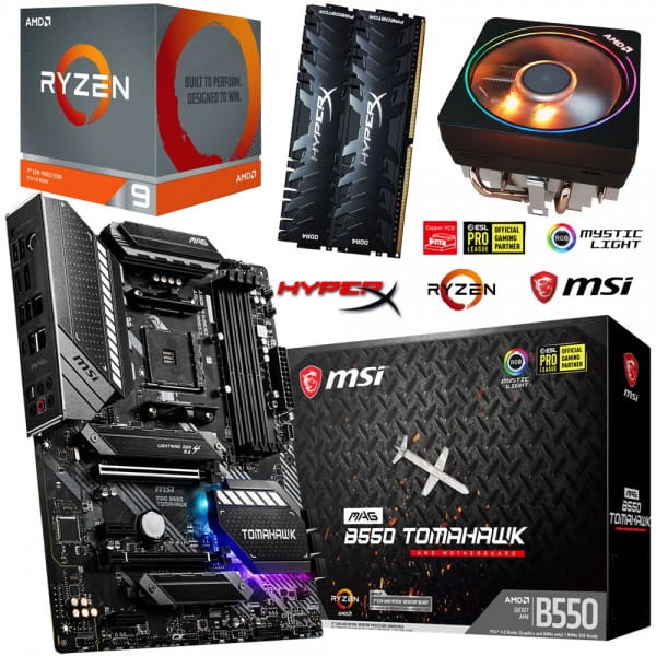 PC Bundle Kit • AMD Ryzen 9 3900X • MSI MAG B550 Tomahawk • 32GB HyperX DDR4-3200