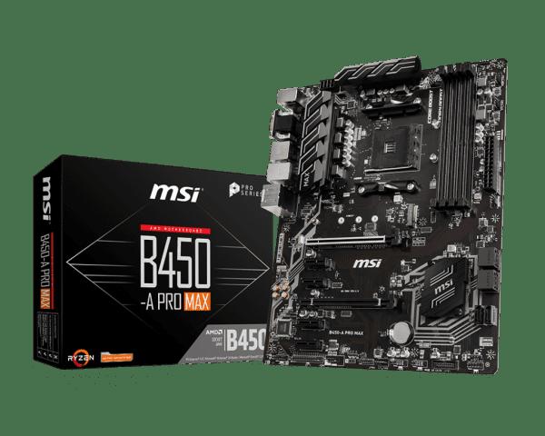 MSI B450-A Pro Max Sockel AM4 ATX Mainboard