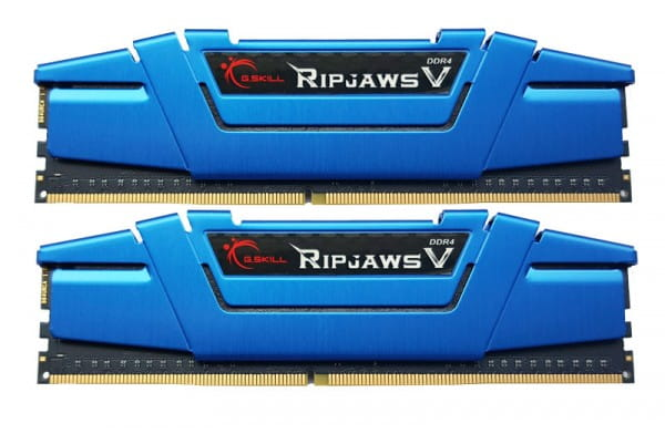 16GB RipjawsV DIMM - DDR4-(2x8GB) 2400 Kit blau