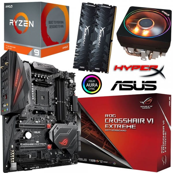 PC Bundle • AMD Ryzen 9 3900X + ASUS ROG Crosshair VI Extreme + 32GB DDR4-3200