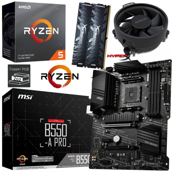 PC Bundle Kit • AMD Ryzen 5 3600 • MSI B550-A PRO • 32GB HyperX DDR4-3200