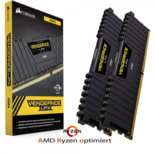 16GB Corsair Vengeance LPX (2x8GB) DDR4 PC 3200 CL16 AMD Ryzen Memory Kit