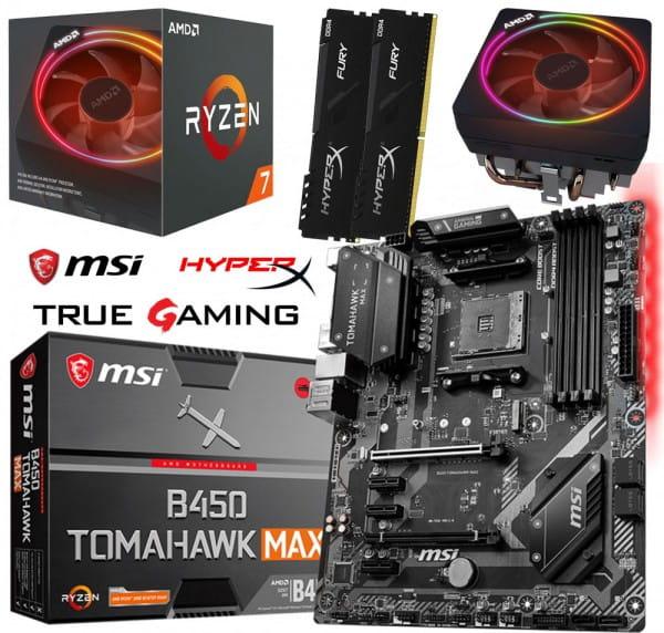 PC Bundle Kit - AMD Ryzen 7 2700X - MB MSI B450 TOMAHAWK MAX - 16GB DDR4-3200