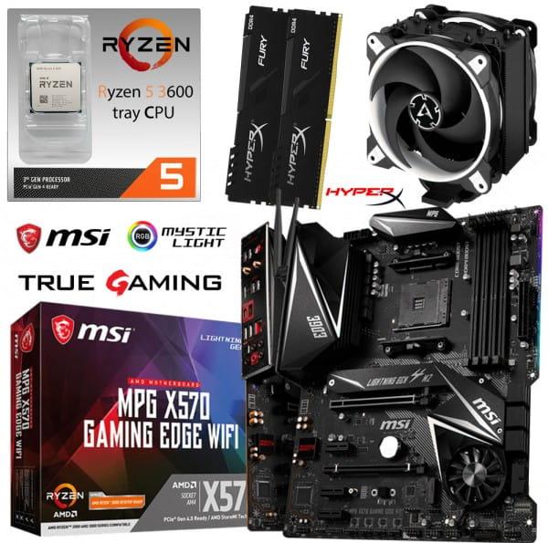 PC Bundle Kit • AMD Ryzen 5 3600 • MSI X570 Gaming Edge WIFI • 16GB DDR4-3200