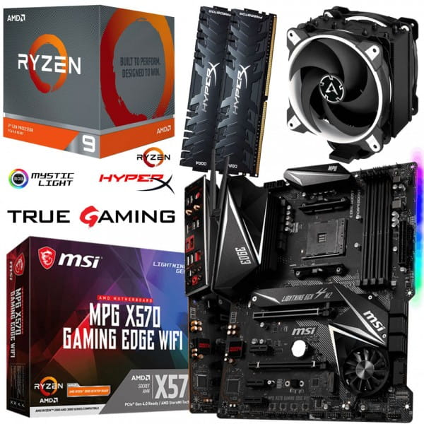 PC Bundle Kit • AMD Ryzen 9 3900X • MSI X570 Gaming Edge WIFI • 32GB HyperX DDR4-3200