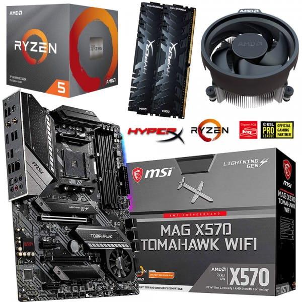 PC Bundle Kit • AMD Ryzen 5 3600XT • MSI MAG X570 Tomahawk WIFI • 16GB HyperX DDR4-3200