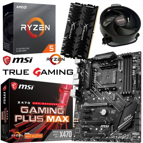 PC Bundle Kit - AMD Ryzen 5 3600 + MSI X470 Gaming Plus Max + 16GB DDR4-3200