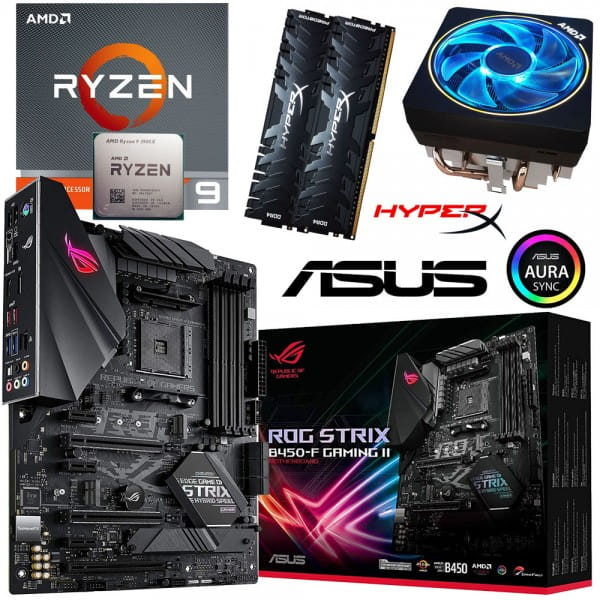 PC Bundle • AMD Ryzen 9 3900X Tray + ASUS ROG Strix B450-F Gaming II + 16GB DDR4-3200