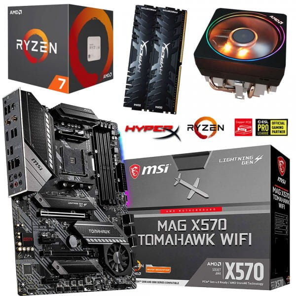 PC Bundle Kit • AMD Ryzen 7 2700X • MSI MAG X570 Tomahawk WIFI • 32GB HyperX DDR4-3200